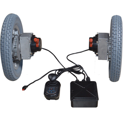 Brushless electric wheelchair conversion kits